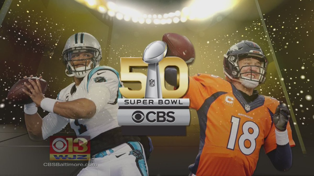 WJZ is your home for SB50. Broncos v. Panthers. See it tomorrow @ 6:30 p.m. WJZFootball