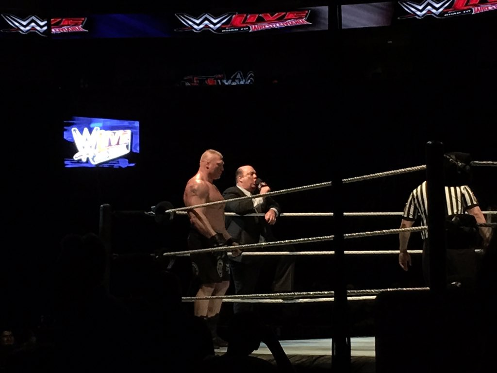 Brock and @HeymanHustle #WWESanJose https://t.co/RmVaOjPePI