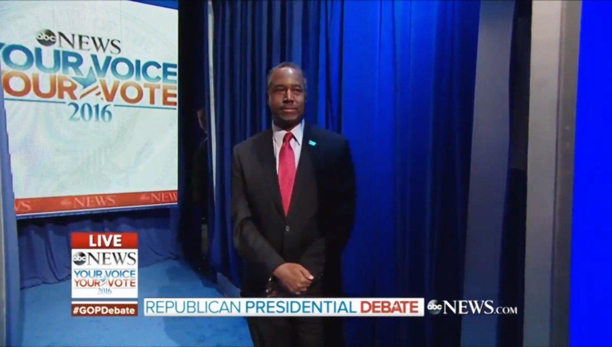 GRAND OLD PILEUP: Ben Carson causes backstage backup, Trump botches entrance at GOP debate