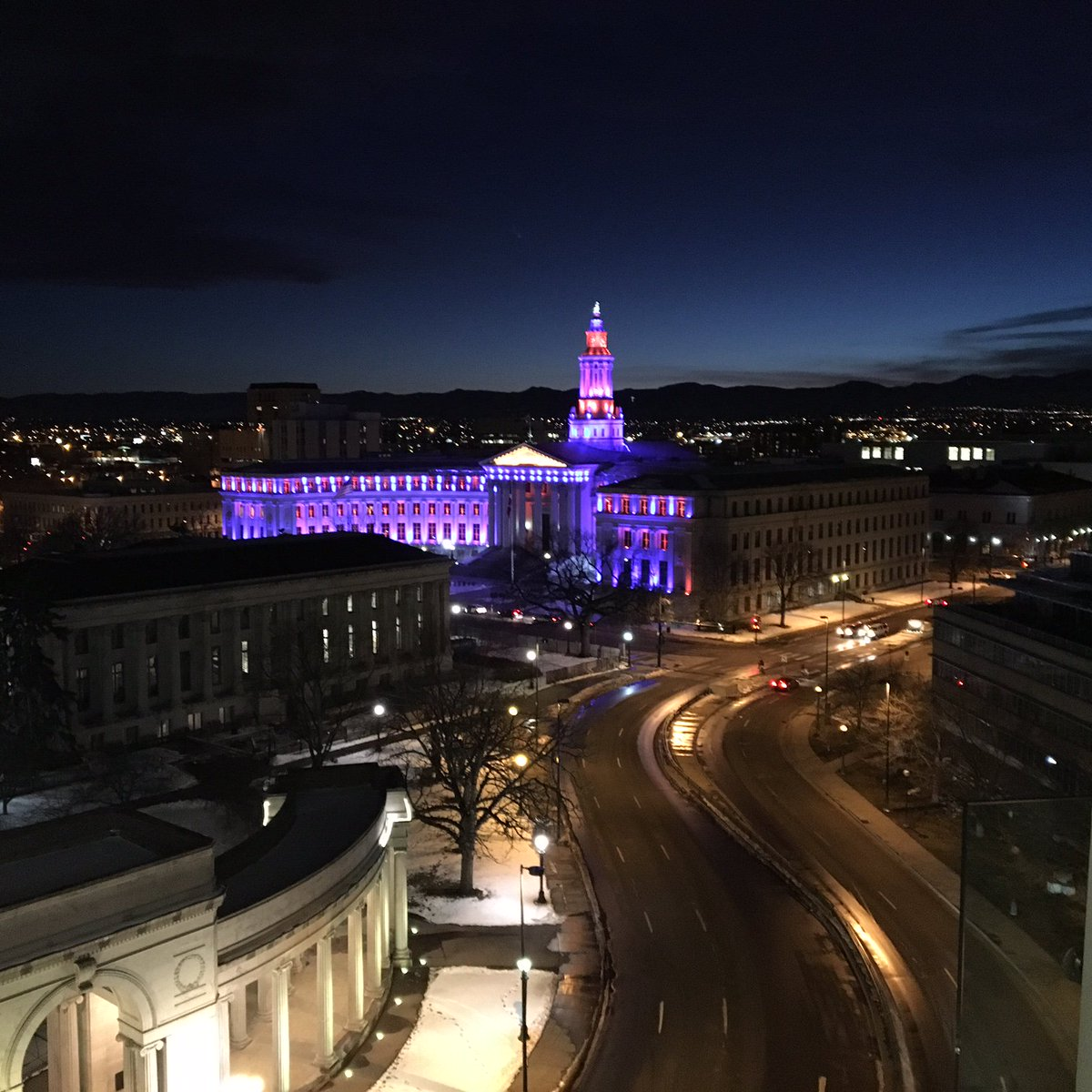 'Twas the night before SuperBowl50 and Denver is ready.