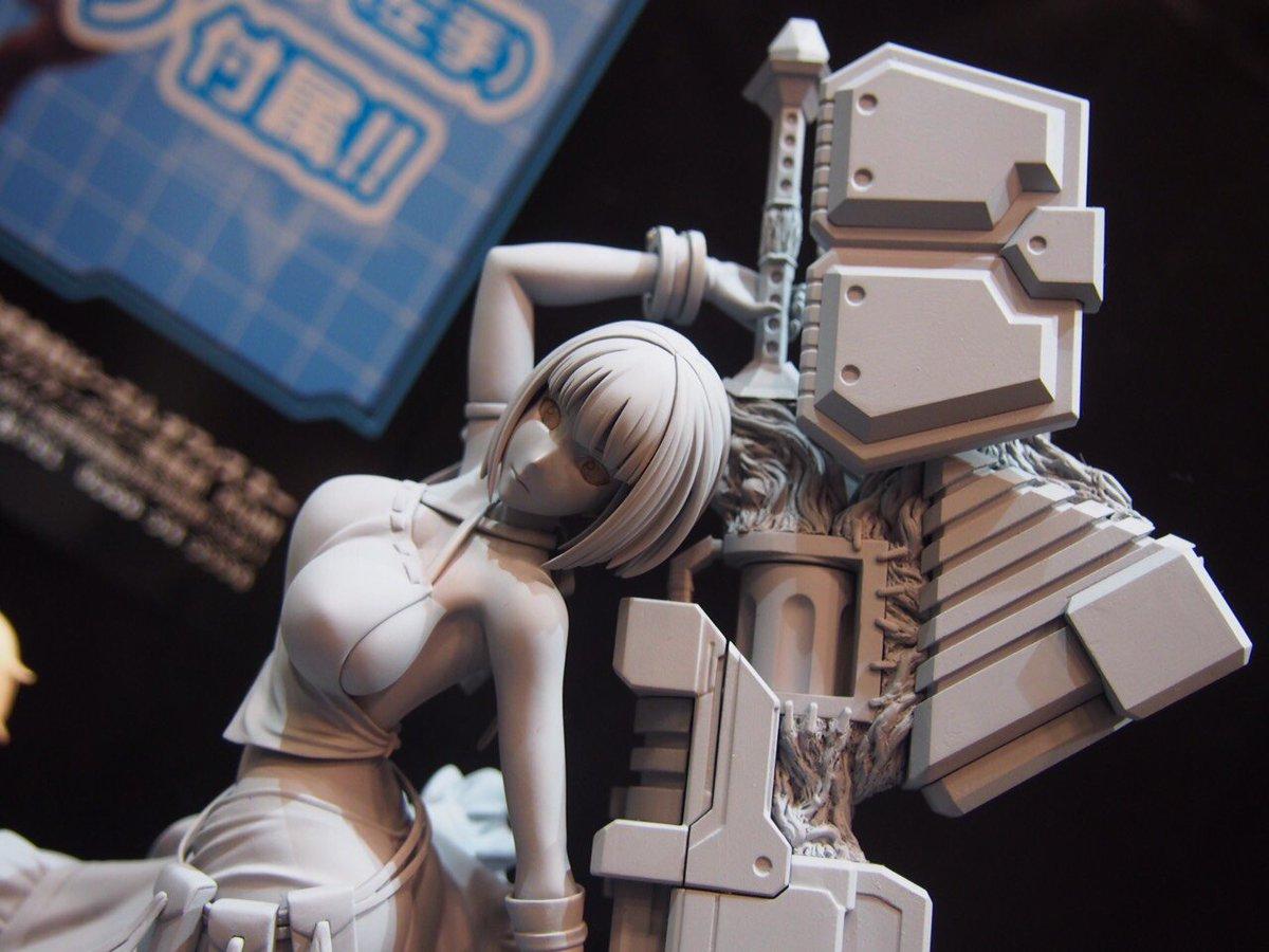 ワンフェスGE関連展示。 PLUMさんの新作「サクヤ」の原型初公開!神機も衣装も迫力のディテール!#GODEATER