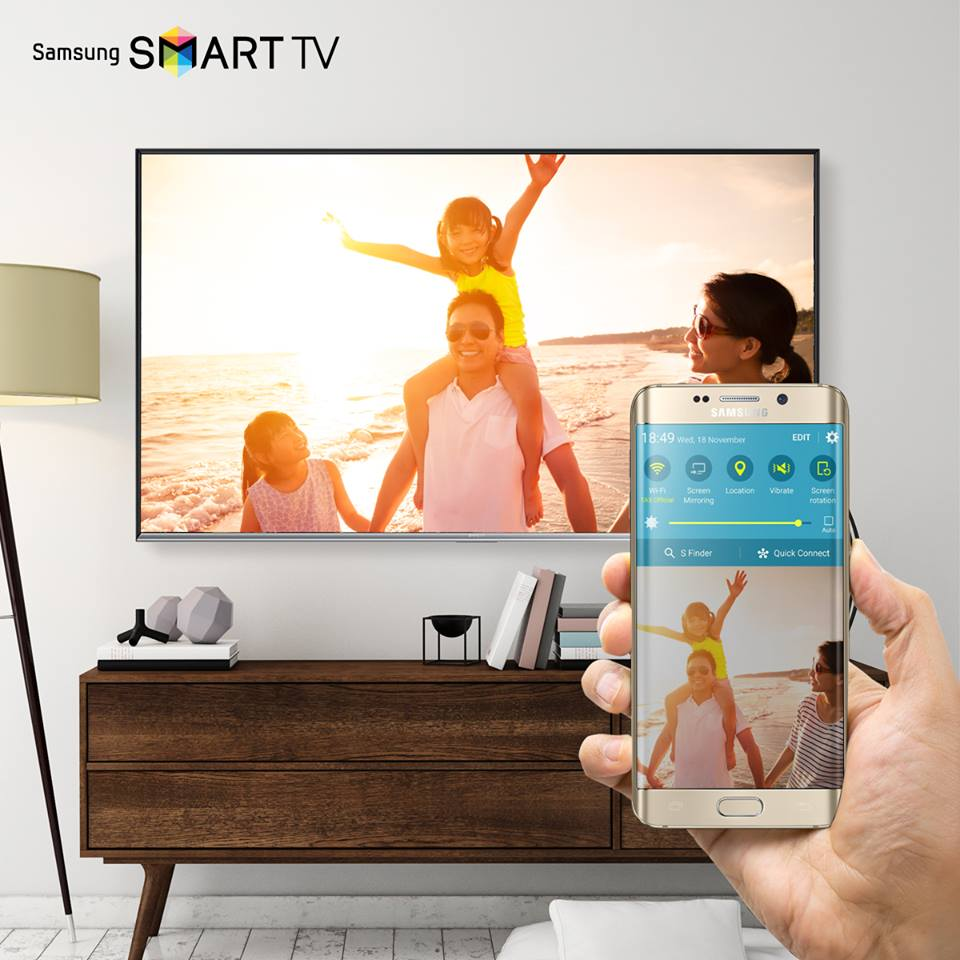 samsung indonesia on twitter quick connect pada smart tv samsung dapat menampilkan konten hp. Black Bedroom Furniture Sets. Home Design Ideas