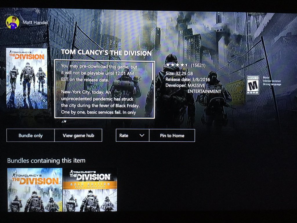 @XboxMAD The Division download size on Xbox One revealed https://t.co/PyJZ5rgntR