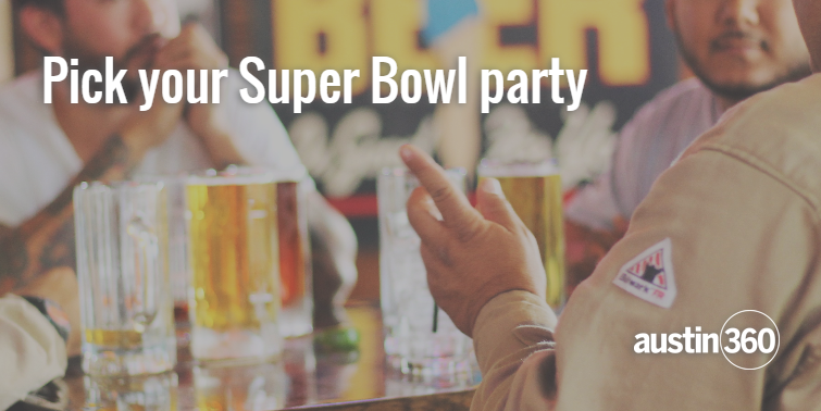 Find a Super Bowl party near you for a boozy good time