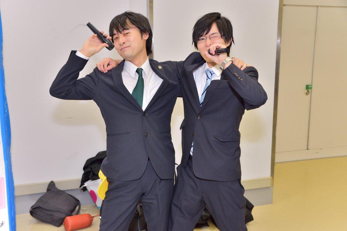 タケバネは、新たなステージへと向かう訳あって、アイドル!現役Pがまさかのアイドル転向!?SideM、開幕!! 武内P:たか。さん(@taka_humo) バネP:Akiさん(@aki9nne) #cin_stage #シンステ https://t.co/Y7UKVYvLkj