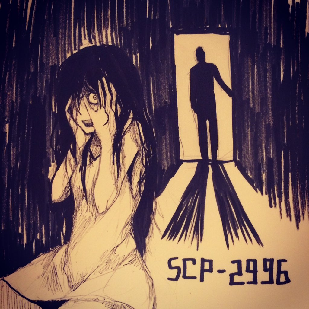 中斑一 On Twitter Scp落書き4 Scp 2996 It Follows You ついてくる