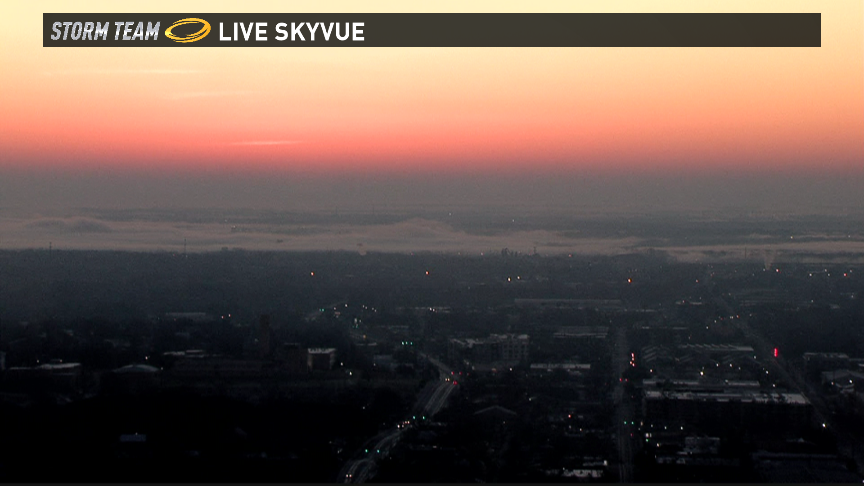 What a shot over downtown Austin! Its a chilly morning! atxwx @KVUE