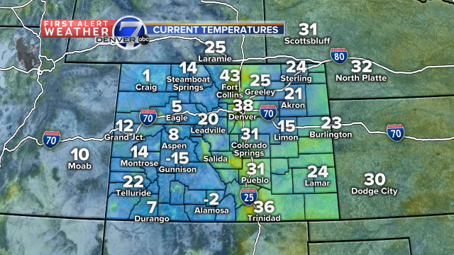 Happy Sunday! Check out the temperature differences this morning! The winds are playing with us. cowx