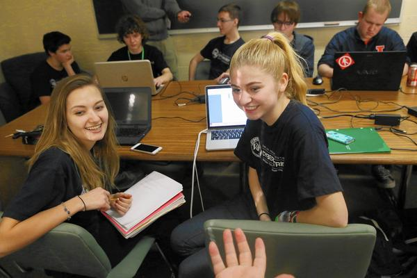 York High students aspire to reach the CyberPatriot competition nationals this year