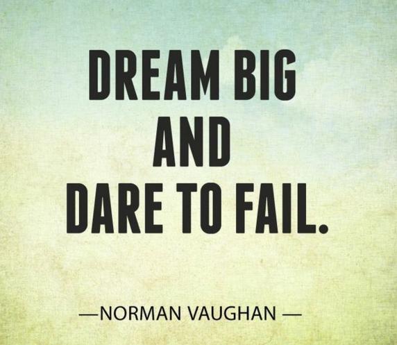 Dream BIG and Dare to Fail! #ThinkBIGSundayWithMarsha @marshawright https://t.co/P5rQkOQM9e