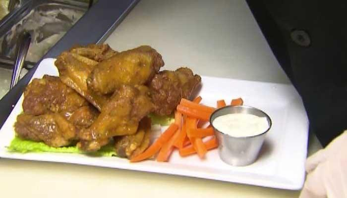 The staple to any Super Bowl party is the hot wings -- 1.3 billion hot wings to be exact.>>