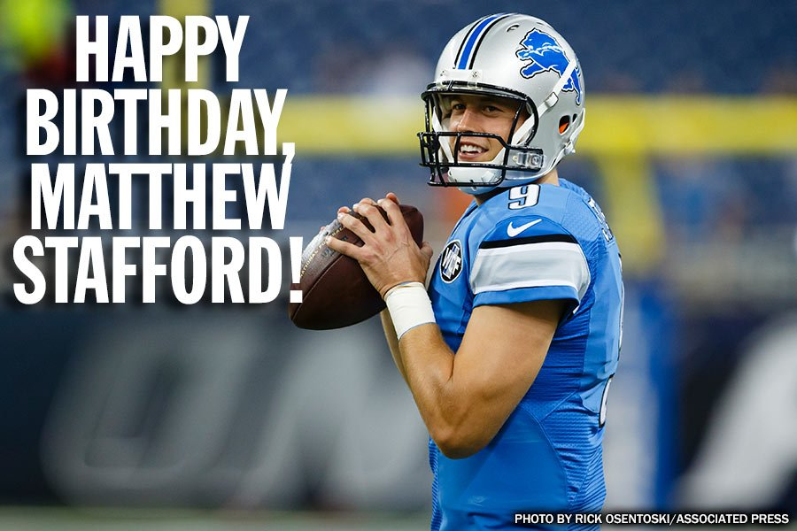 Happy birthday to Detroit Lions quarterback Matthew Stafford!