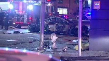 3 people die in fiery collision Saturday night in SanFrancisco