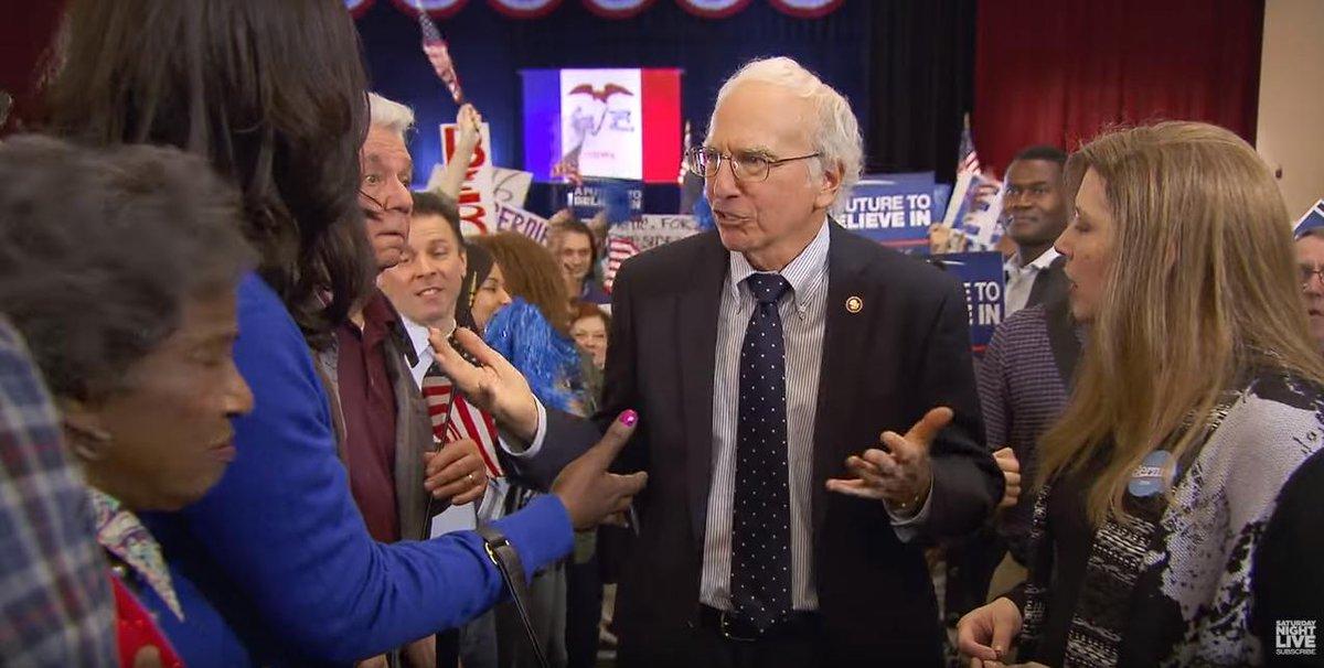 Larry David and Bernie Sanders unite for a 'Bern'-themed Saturday Night Live