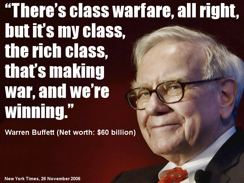 Image result for pax on both houses, warren buffett class warfare