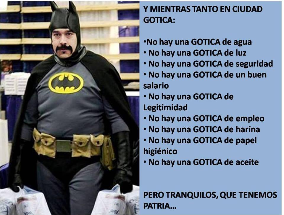 Fatman en Ciudad Gotica @Team_AntiRojos ¡Difunde! HOY...con la etiqueta #DisfracesDelChavismo https://t.co/JMt8Zbs1oZ