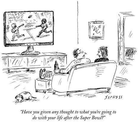 the new yorker on twitter a super bowl cartoon by david sipress