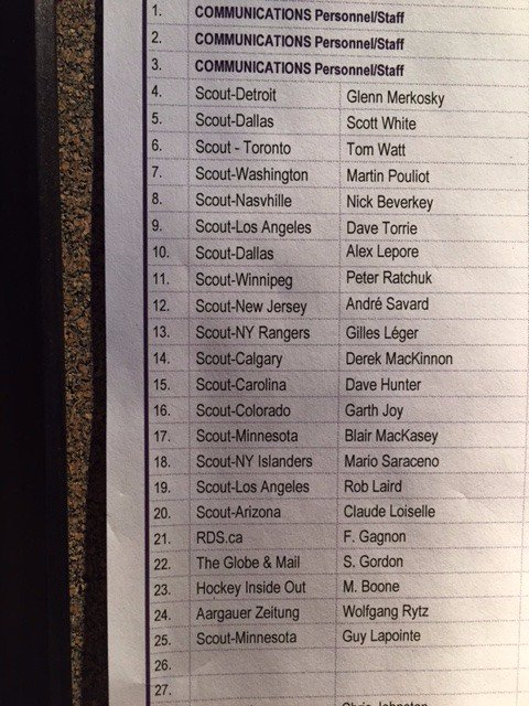 Plenty of NHL scouts at Sunday's #Habs vs. #Hurricanes game at Bell Centre: https://t.co/RWuIeHYHKx
