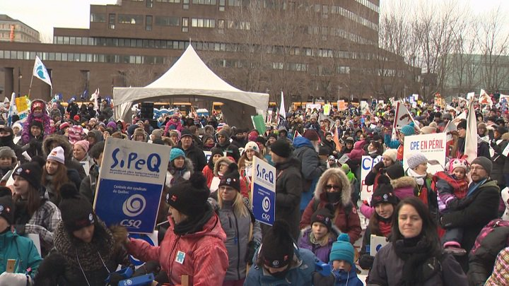 Quebec daycares stage province-wide protests cpeenperil