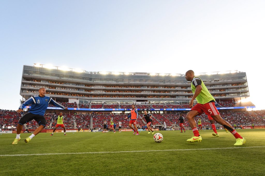 Two years ago, we played the first-ever sporting event at @LevisStadium.Today, it's SB50. Quakes74