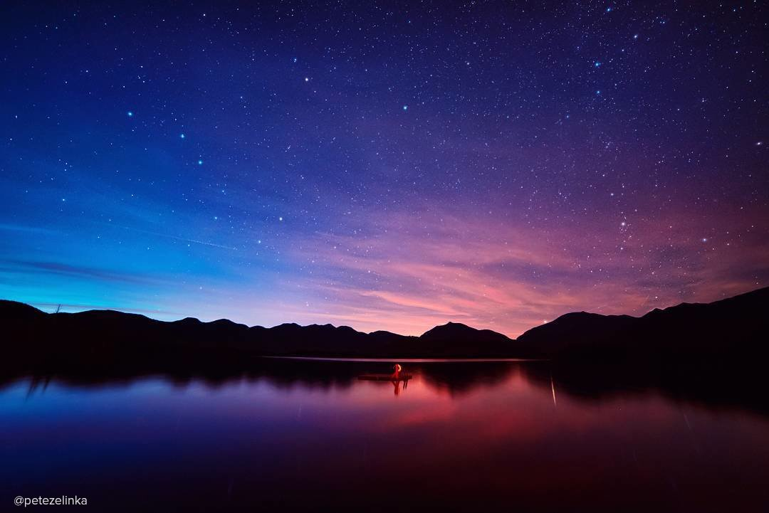 A starry night in the Adirondacks.