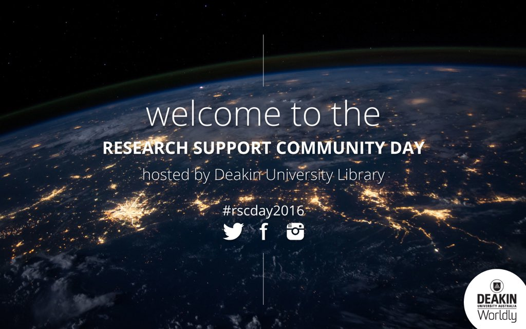 We're excited to be hosting the Research Support Community Day 2016 today! We hope you enjoy the program #rscday2016 https://t.co/8xxQsv5IGp
