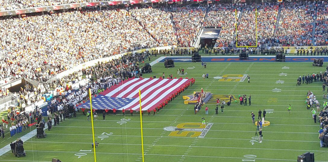 Lady Gaga killed it with national anthem... #SB50 https://t.co/lUoqaDoG48