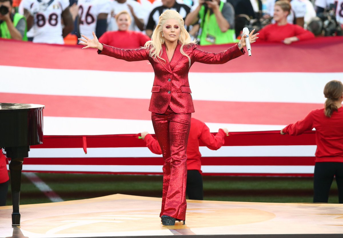 What did you think of Lady Gaga's National Anthem performance? Tell us using CBSLA! SB50 (credit: Getty Images)