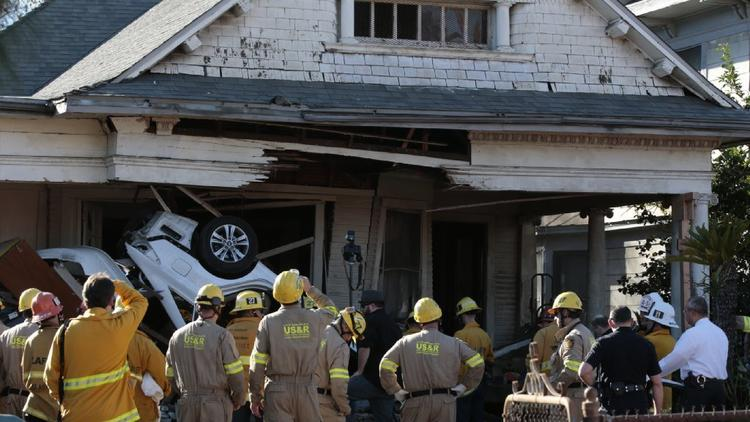 2 dead, one hurt when car crashed into Boyle Heights home