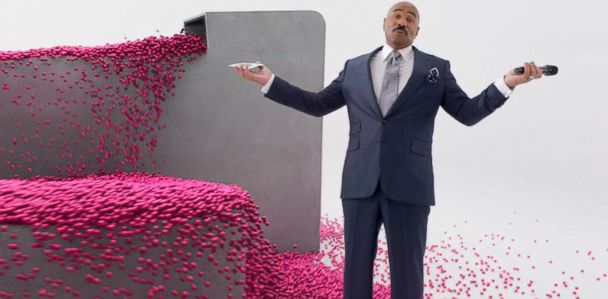 Steve Harvey's T-Mobile ad pokes fun at pageant blunder