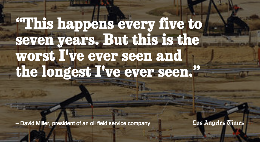 Oil's latest slump takes a heavy toll on Bakersfield