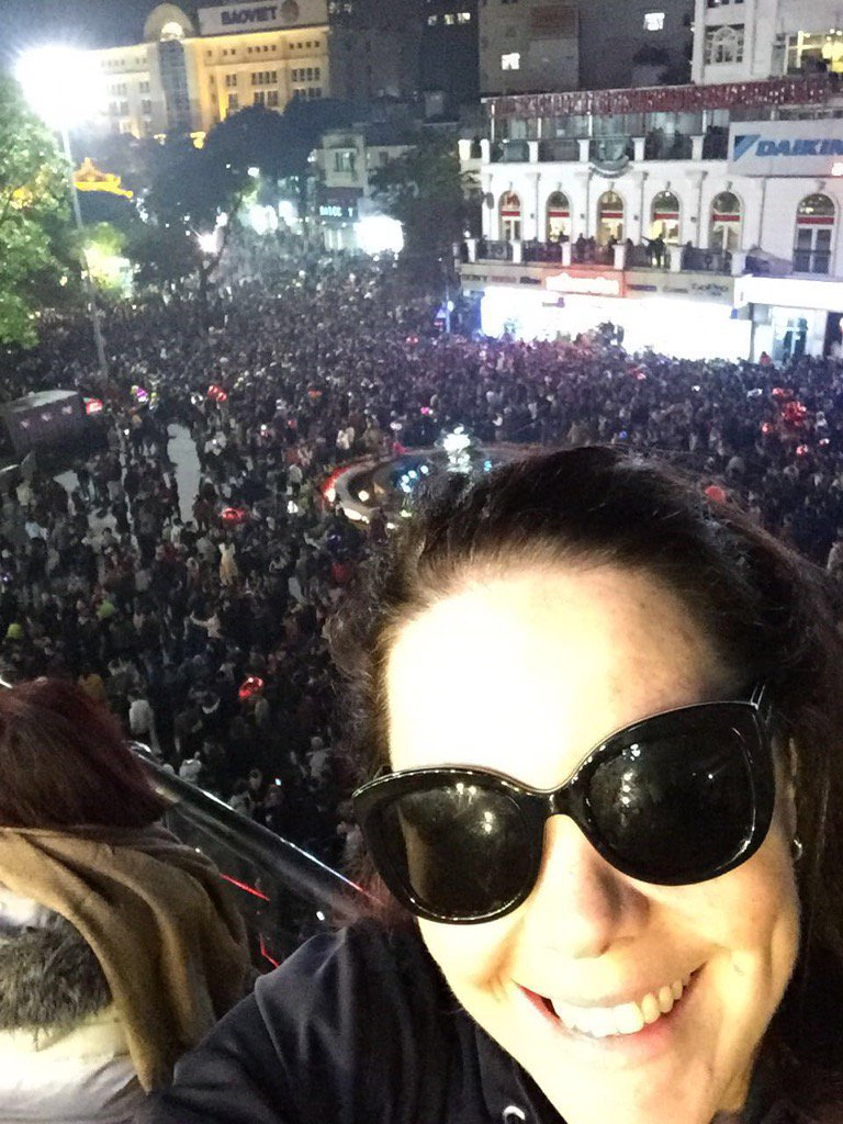 """So lucky to celebrate """"New Year"""" in Vietnam last night...I have never in my life known atmosphere like it!!! https://t.co/Judo9zcW1G"""