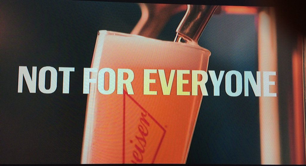 These three words are the opposite of the last 100 years of Budweiser marketing. https://t.co/0Gai89sSwM