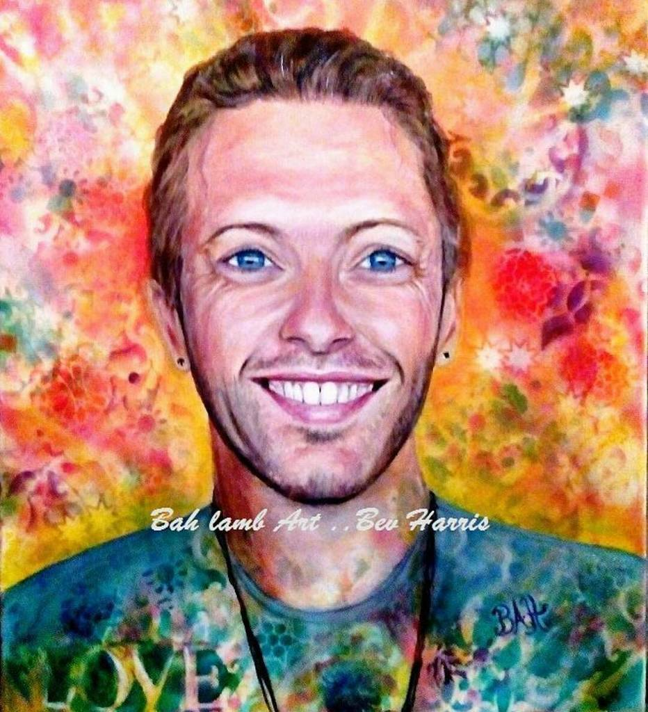 Updated painting of Chris. My mum really captured his spirit, @coldplay are truly amazing!… https://t.co/Rfe9qHbCFz https://t.co/nEjxBvh4Ng