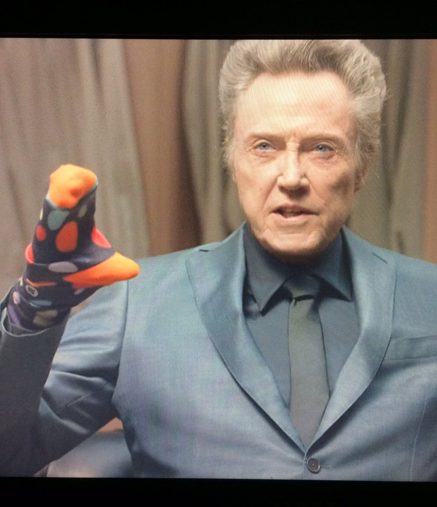 Christopher Walken with a sock puppet. SB50