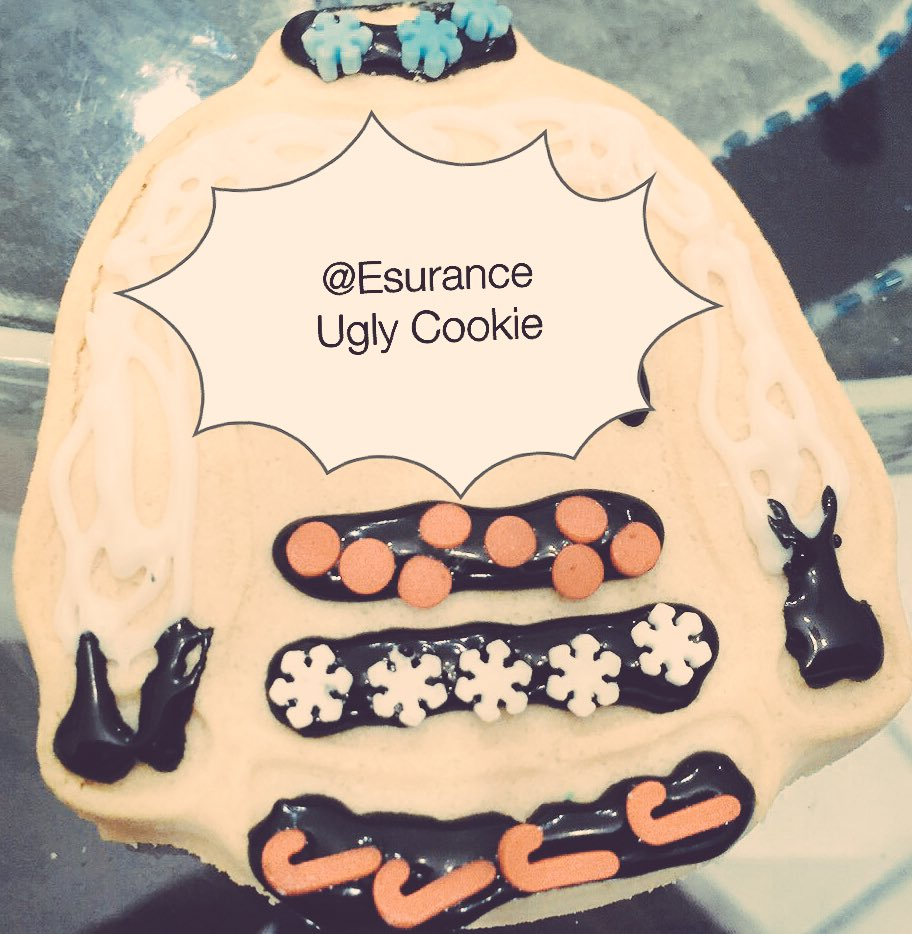 #EsuranceSweepstakes  unofficial ugly sweater cookie for .@esurance https://t.co/h7ndx7b7im