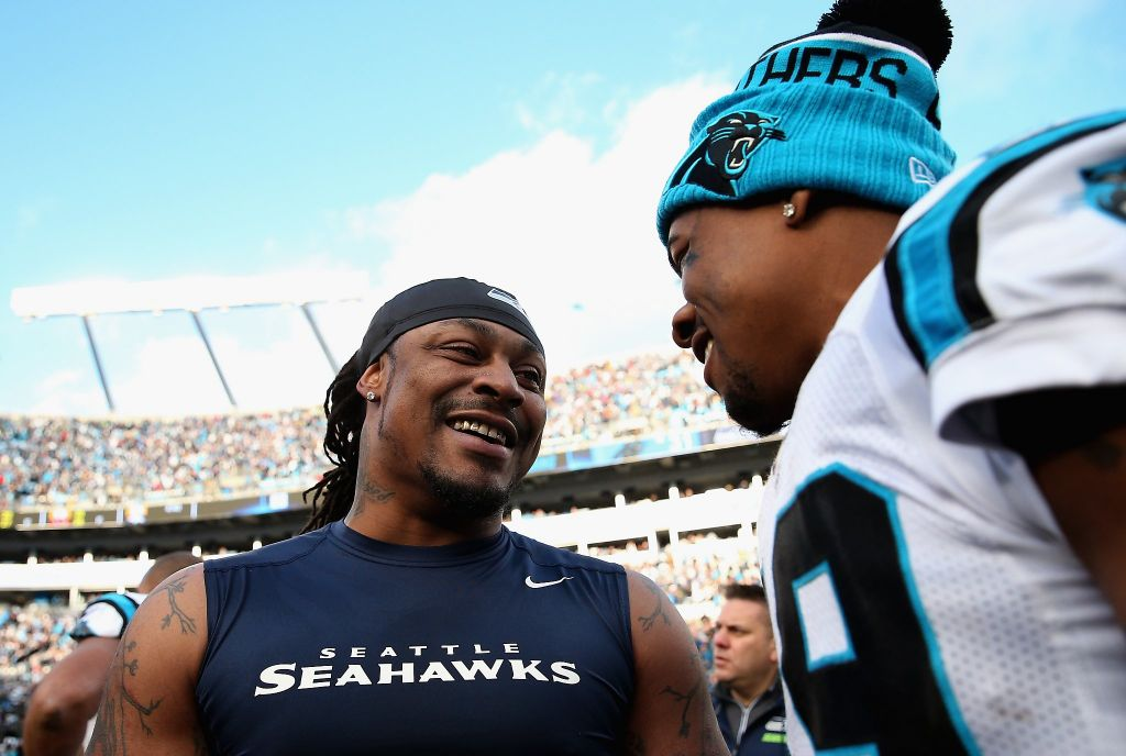 Did Marshawn Lynch just announce his retirement during the Super Bowl?!