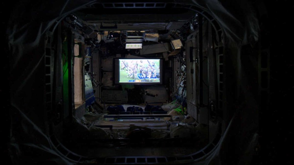 Ever wonder what it would be like to watch the Super Bowl from outer space?