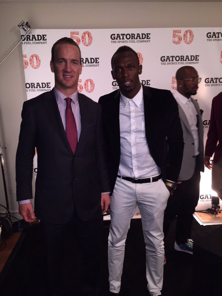RT @usainbolt: Going out as the champ you are.. Congrats #PeytonManning #SB50 @Gatorade https://t.co/ZIhLAjjznN