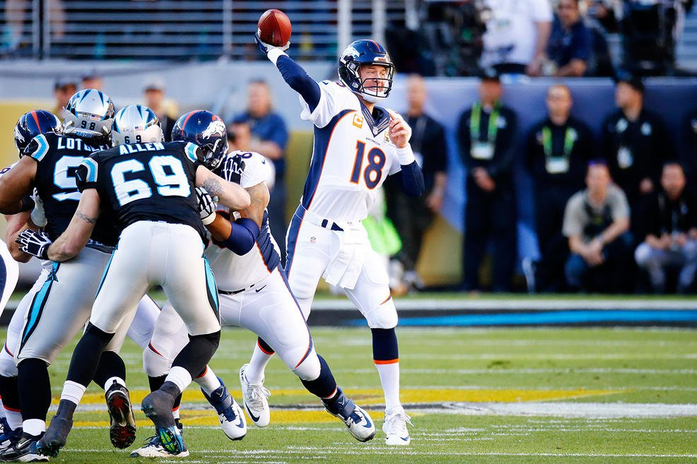 Denver Broncos win SB50 defeating the Carolina Panthers 24 to 10