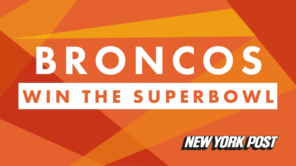 The Broncos win SB50