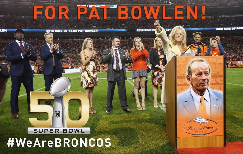 This was for Pat!SuperBowlChampions! Broncos SB50 WeAreBRONCOS
