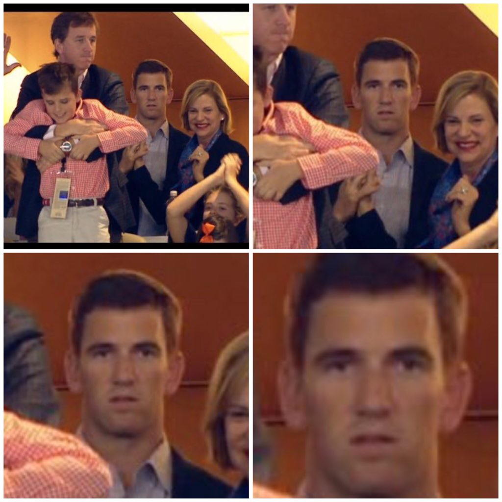 Eli Manning showed zero emotion when his brother won the Super Bowl
