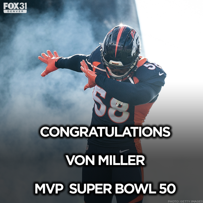 We love you Von. Congratulations. SB50