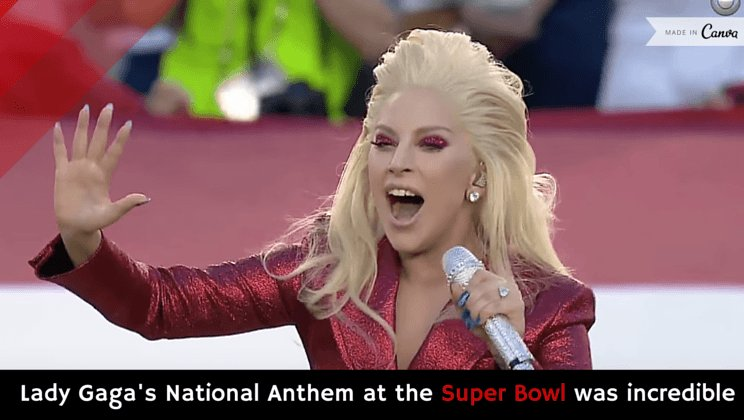 Lady Gaga's National Anthem at the Super Bowl was incredible [video] https://t.co/e1oPLjWgQE https://t.co/3VdcQFZUif