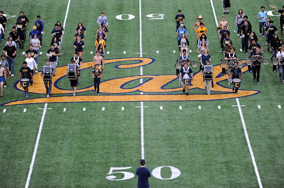 The marching band on the field during SuperBowl50 halftime? 220 of them were Cal students