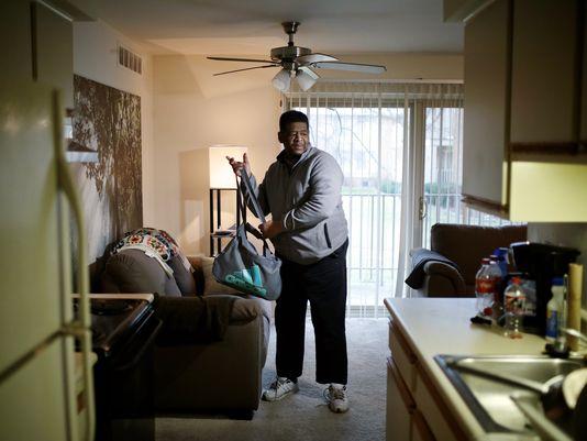 'Walking man' settles into new life, friends, waist size