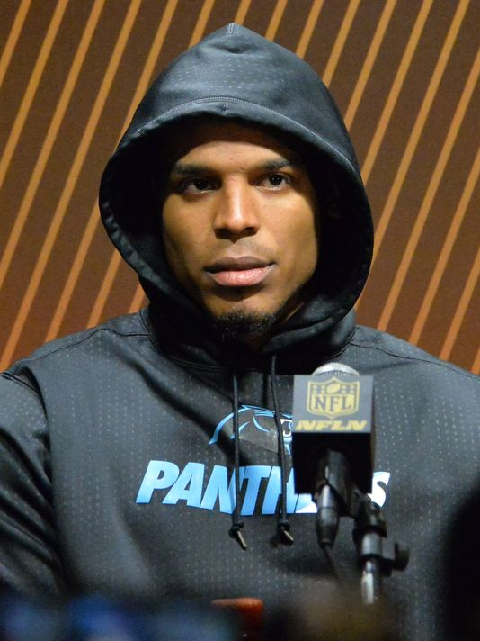 Cam Newton bolts SuperBowl news conference after terse exchanges