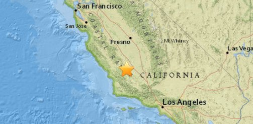 Magnitude-3.8 earthquake strikes in Central Calif., according to @USGS