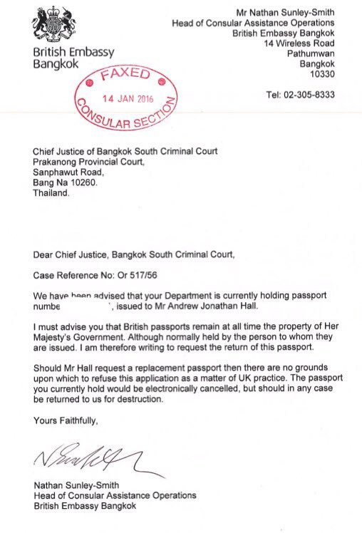 Andy Hall On Twitter British Embassy Release 14 Jan 16